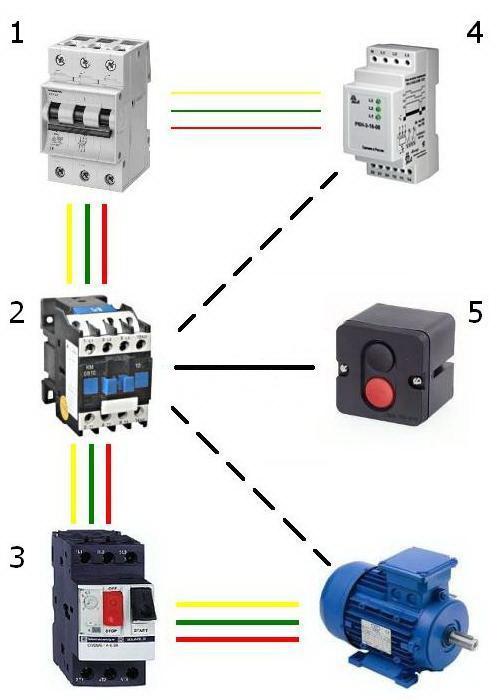 Схема трехфазного электродвигателя в однофазную сеть фото 792